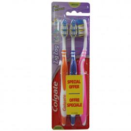 Colgate tootbrush 3 u. ZigZag medium.