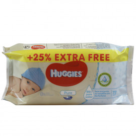 Huggies baby wipes 72 u. Pure.