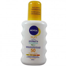 Nivea solar protection 200 ml. Protect & Sensitive 50.