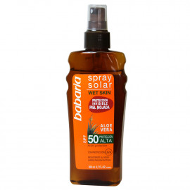 Babaria Spray solar 200 ml. Protection 50.