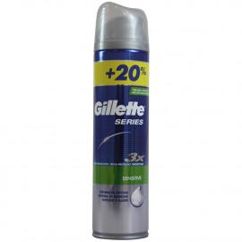 Gillette shave gel 250 ml. + 50 ml. Series Sensitive.
