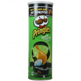 Pringles patatas 165 gr. Sour Cream & Onion 18 u.