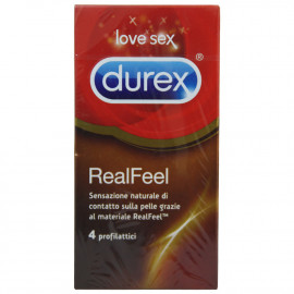 Durex preservativos 4 u. Real Feel.
