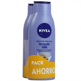 Nivea crema 2X400 ml. Smooth Milk.