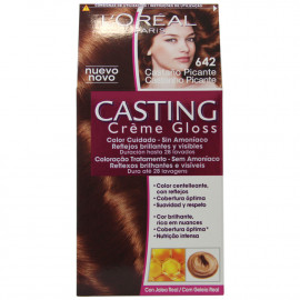 L'Oréal Paris hair color 642 Casting Hot Brunette.