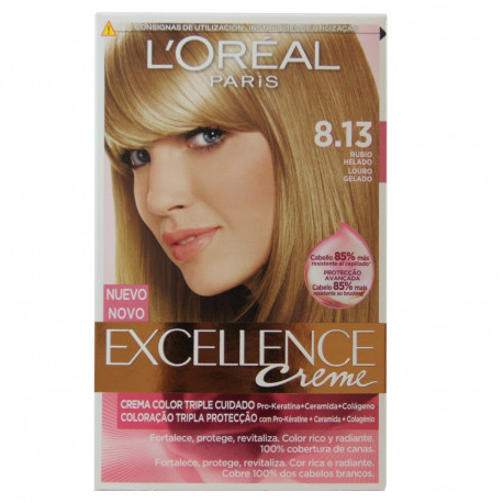 L'Oréal Paris hair color 8.13 Excellence Creme Blond.