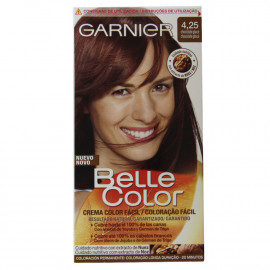 L'Oréal Garnier hair color 4.25 Belle Color chocolate.
