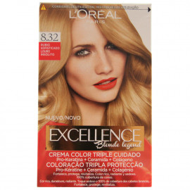 L'Oréal Paris hair color 8.32 Excellence Sofisticated Blonde.