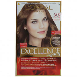 L'Oréal hair color 6.02 Exellence color light brown.