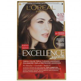 L'Oréal Paris hair color 4.02 Excellence Color brown.