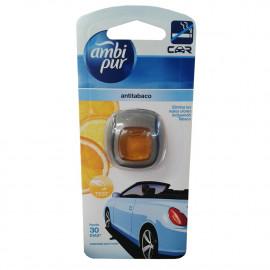 Ambipur ambientador coche clip 2 ml. Antitabaco.