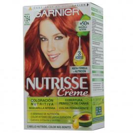 Garnier Nutrisse tinte 7.64 Rojo Intenso.