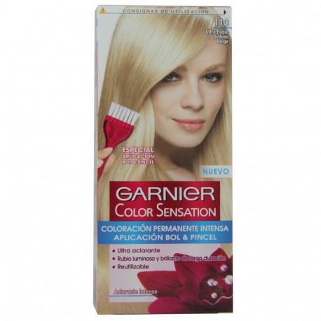 Garnier dye hair 113 Blond hair bright.