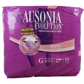 Ausonia Evolution pérdidas de orina 10 u . Talla Grande.