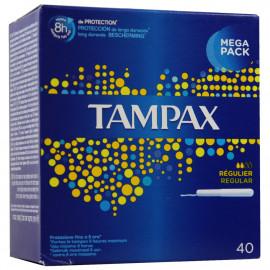 Tampax 40 u. Regular.