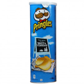 Pringles potato crisps 165 gr. Salt & Vinegar.