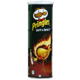 Pringles potato crisps 165 gr. Hot & Spicy.
