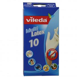 Vileda guantes 10 u. Multi Latex Talla S/M.