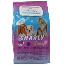 Charly toallitas húmedas para animales domésticos 100 u. Pop-up.