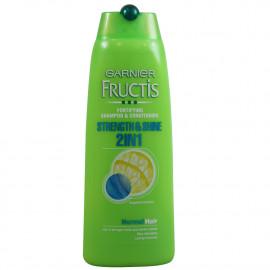 Garnier Fructis champú 250 ml. Fuerza y brillo 2 in 1.