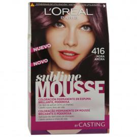 L'Oréal Sublime Mousse tinte 416 mora.