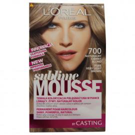 L'Oréal Sublime Mousse tinte 700 castaño brillante.