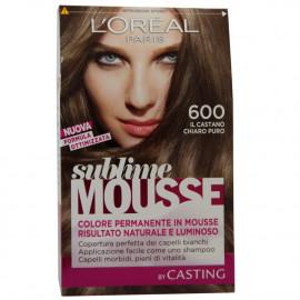 L'Oréal Sublime Mousse tinte 600 castaño claro puro.