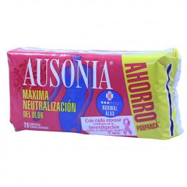Ausonia compresas 26 u. Air Dry normal con alas.