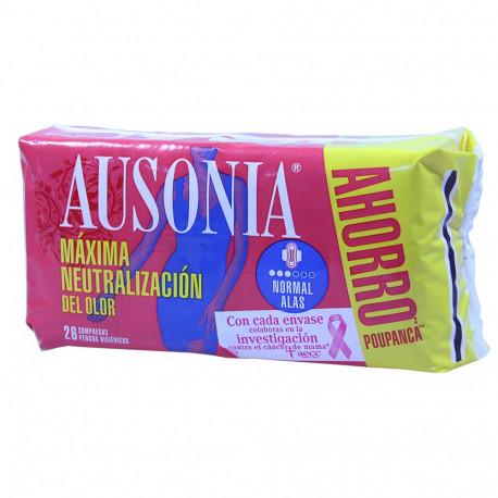 Ausonia compresas 26 u. Air Dry normal alas.