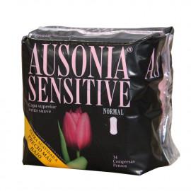 Ausonia compresas 14 u. Sensitive Normal.