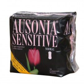 Ausonia compresas 14 u. Sensitive Normal.