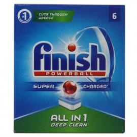 Finish Powerball todo en uno 6 u.