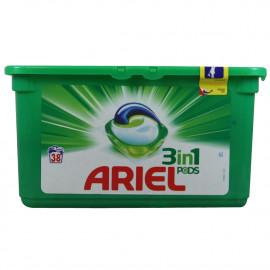 Ariel detergente en cápsulas 3 en 1 - 38 u. Regular.