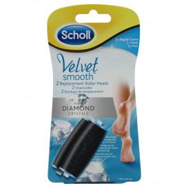 Dr. Scholl Velvet recambio lima eléctrica para pies 2 u. Diamante.