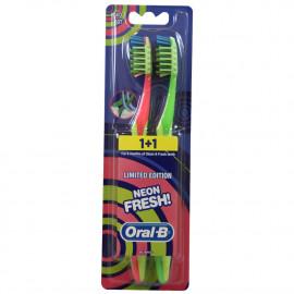 Oral B cepillo de dientes 1+1. Suave.