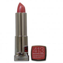 Maybelline color sensation lipstick. 413 Delicate cora.