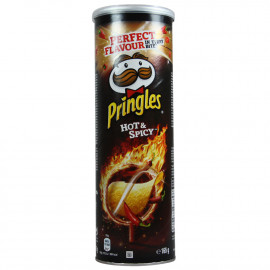 Pringles patatas 165 gr. Hot & Spicy 19 u.