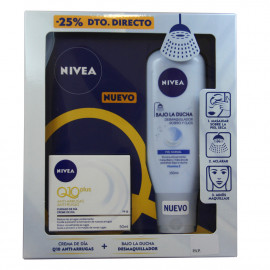 Nivea pack crema hidratante día 50 ml. Q10 Plus Anti-arrugas + desmaquillante de ducha.