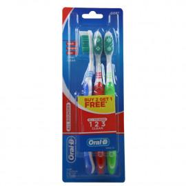 Oral B cepillo de dientes 3 u. 1 2 3 clean soft.