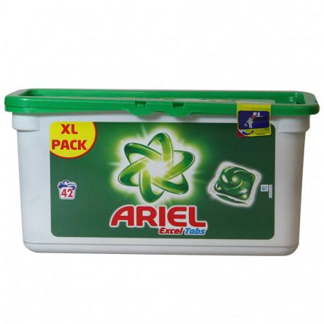 Ariel Tabs 42 pastillas Excel regular.