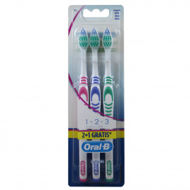 Oral B cepillo de dientes 2+1 u. 1 2 3 classic care.