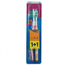 Oral B cepillo de dientes 1+1 u. 1 2 3 clean fresh strong.
