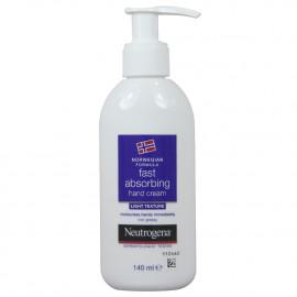Neutrogena crema manos 140 ml. Absorción rápida.