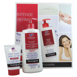 Neutrogena pack hand cream 75 ml + body milk 250 ml. Intensive repair.