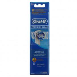 Oral B recambio cepillo de dientes eléctrico 2 u. Precisión Clean.