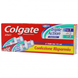 Colgate toothpaste 2X75 ml. Cavity protection.