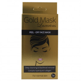 Mascarilla facial Gold 5 u. Colagen normal skin.