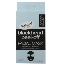 Facial mask Black 5 u. Charcoal extract normal skin.