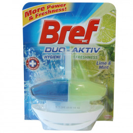 Bref WC Duo Active 50 ml. Lima y Menta.