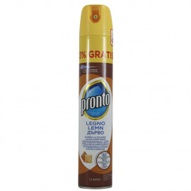 Pronto limpiamuebles spray 400 ml. Brillo.